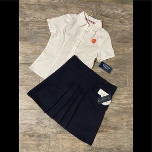 U.S. Polo Assn. scooter uniform skirt w/top